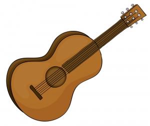 Dibujo infantil de guitarra