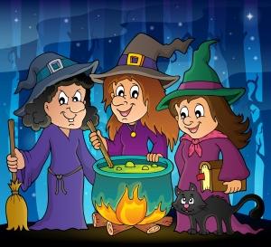 Dibujo de tres brujas