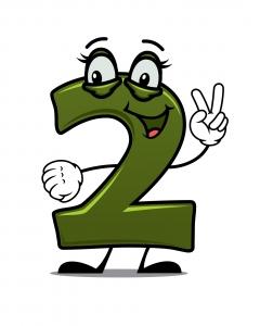 Dibujo del número 2