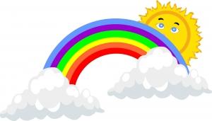 Dibujo infantil de arcoiris
