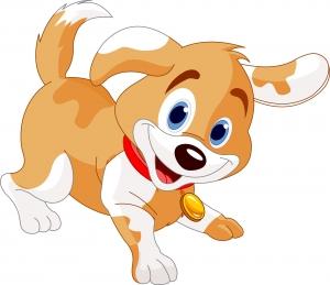 Dibujo infantil de un perrito