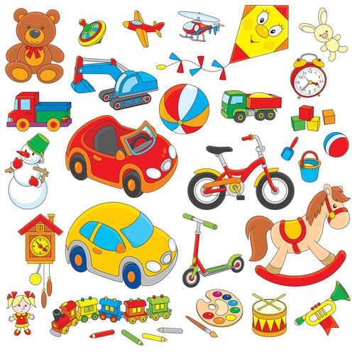Variedad de juguetes